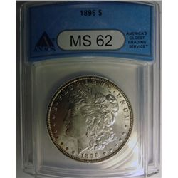 1896 MORGAN DOLLAR ANACS MS62