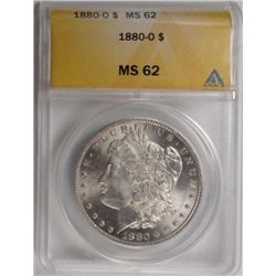 1880O  Morgan $  ANACS62.  MS63 GS = $345