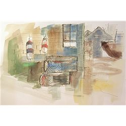Original Watercolor on paper Hand Signed by Michael Schofield