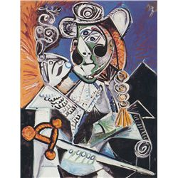 Cavalier with Pipe- Picasso- Limited Edition on Canvas