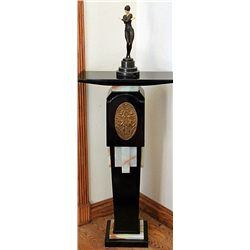 Signed Preiss Bronze and Ivory with Pedestal