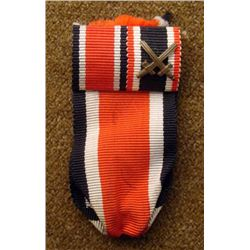 Nazi WWII Original Iron Cross Ribbon w/ Swords -Rare