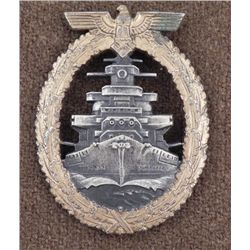 WWII Repro Nazi Naval High Seas Service Badge RS & S