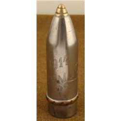 WWI TRENCH ART SHELL ENGRAVED 1914 GERMANY