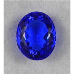 17.10 Carat Tanzanite Quartz Dark Blue Gemstone
