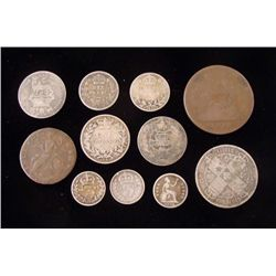 11 1797-1893 Early British Coins - 10 Silver 1 Copper