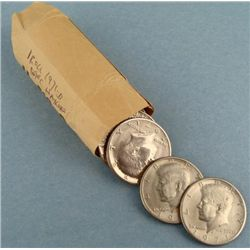 1 Roll 20 1971-D Kennedy Halves Half Dollar Coins