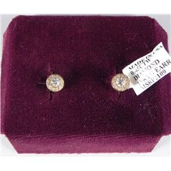 .45 Carat 18K Yellow Gold Diamond Earrings