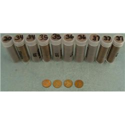 10 Rolls Wheat Cents 1930, 34, 35, 36, 37
