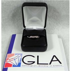 .09 Carat Diamond 14K White Gold Ring GLA Appraisal