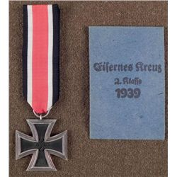 WWII Original Nazi Iron Cross w/ Ribbon & Envelope