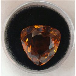 26.00 CT CITRINE RICH ORANGE TRILLION GEMSTONE