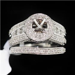 12.80g 14k White Gold Diamond Ring