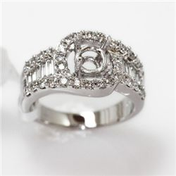 6.57g 14k White Gold Diamond Ring