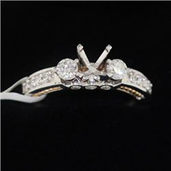 5.41g 14k White Gold Diamond Ring