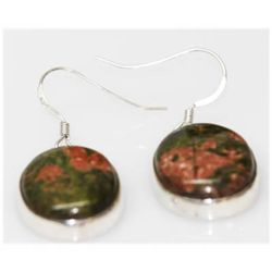 Natural 9.50 Ctw Semi-Precious Earrings .925 Sterling