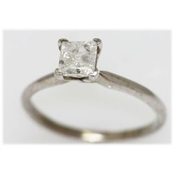 0.75 CTW 14K GOLD DIAMOND RING PRINCESS H/I2