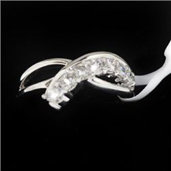 4.58g 14k White Gold Diamond Ring