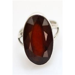 Natural 28.20 ctw Hazonight Garnet Oval Ring .925 Sterl
