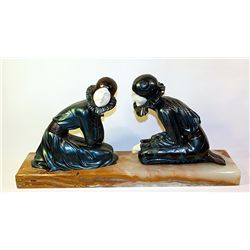 Tender Promises - Bronze and Ivory Sculpture by Chiparus