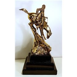 Dali Limited Edition 24K Gold Layered Bronze Sculpture- Nostalgia Atomica