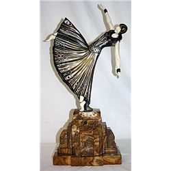 Signed Chiparus Bronze and Ivory - Testris