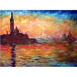 Venice at Dusk - Monet - Limited Edition on Canvas