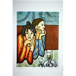 Picasso Limited Edition - Harliquin And His Companion - from Collection Domaine Picasso