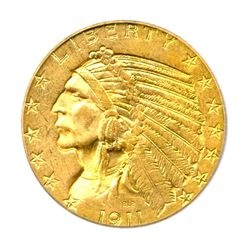 RARE IN THIS GRADE 1911-S GOLD INDIAN HEAD ICG MS-63