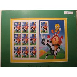 One sheet Sylvester & Tweety stamps