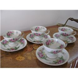 Vintage Eight Piece Saji Japan Cup & Saucers