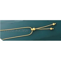 FANCY DESIGN Necklace 18in. 5.5 grs 14kt Y Gold