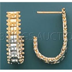 BOLA COLLECTION Earring 4.2 grs 14kt 3tone Gold