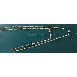 FANCY NECKLACES 17in. 6.7 grs 14kt Y Gold w/desgin