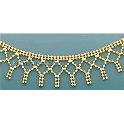 FANCY DESIGN Necklace 17in. 7.6 grs 14kt Y Gold