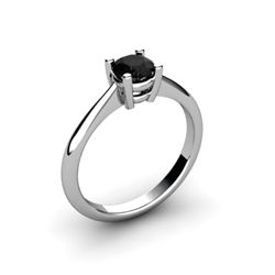 Black Diamond 0.50ctw Ring 14kt White Gold