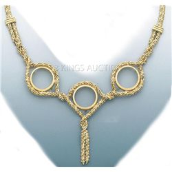 BOLA COLLECTION Necklace 17in. 24.5 grs 14kt Y Gold