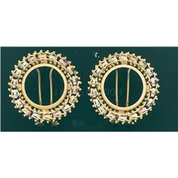 BOLLA COLLECTION Earring 8.1 grs 14kt 3tone Gold