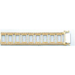 BOLA COLLECTION Bracelet 7.5in. 25.3 grs 14kt Y Gold