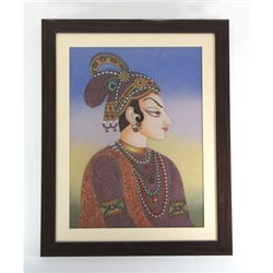 24 1/2  x 30 1/2  Traditional King Gemstone Painting