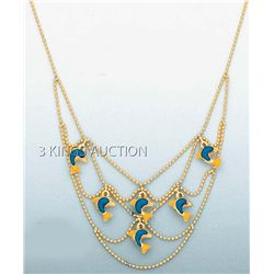 FANCY NECKLACES 17in. 4.3 grs 14kt Y Gold w/desgin