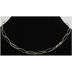 "Pure Gold 16"" 14k Yellow 5.7mm Elongated Oval Link"