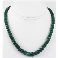 280.45ctw Natural Emerald Rondelles Necklace