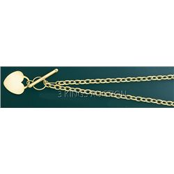 FANCY LIGHT HOLLOW NECKLACE 17in. 7.3 grs 14kt Y Gold