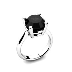 Black Diamond 4.00ctw Ring 14kt White Gold