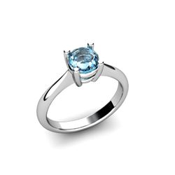 Topaz 1.00ctw Ring 14kt White Gold