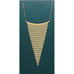 DANGLING DESING Necklace 17in. 9.9 grs 14kt Y Gold