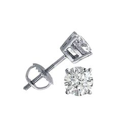 2.00 ctw Round cut Diamond Stud Earrings, G-J, SI-I