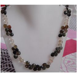 Natural 207.50ct Semi Precious Necklace .925 Sterling
