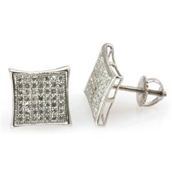 Genuine 0.33 ctw Round Cut Diamond Earring 10k